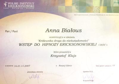 Wstęp do Hipnozy Ericksonowskiej - cz.I