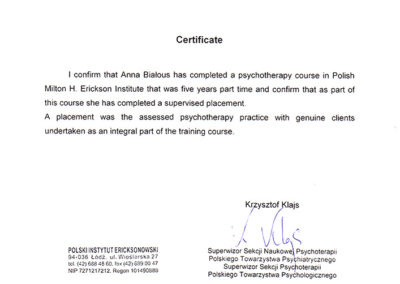 Psychotherapy Course - PIE
