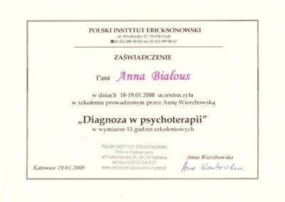 Diagnoza w psychoterapii