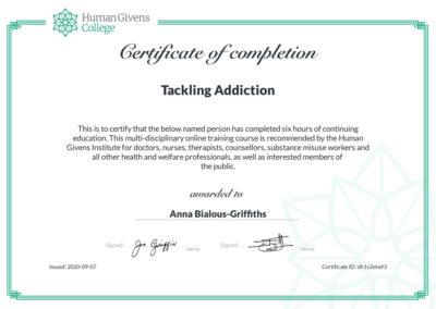 Tackling Addiction - Human Givens College