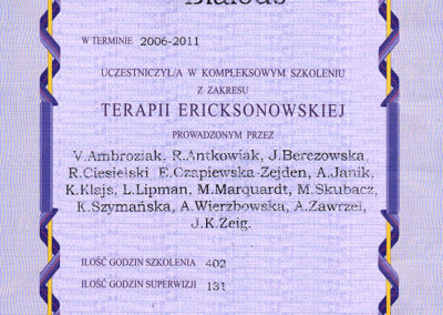 Terapia Ericksonowska - Kompleksowe szkolenie